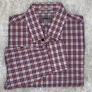 Men's Express Plaid Long Sleeve Button Down